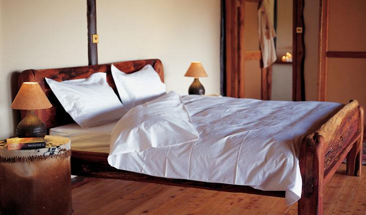 Bedroom at the Saruni Mara Lodge Kenya