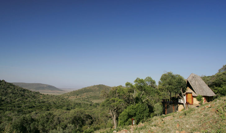 Saruni Mara Lodge overlooking Masai Mara