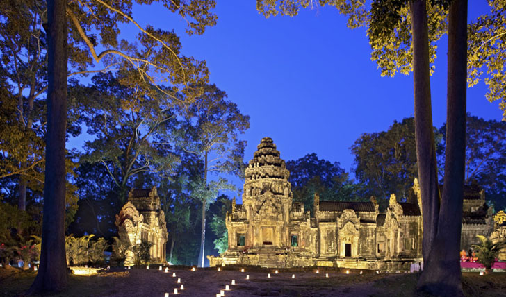 Dine amongst the idyllic sights of Angkor Wat