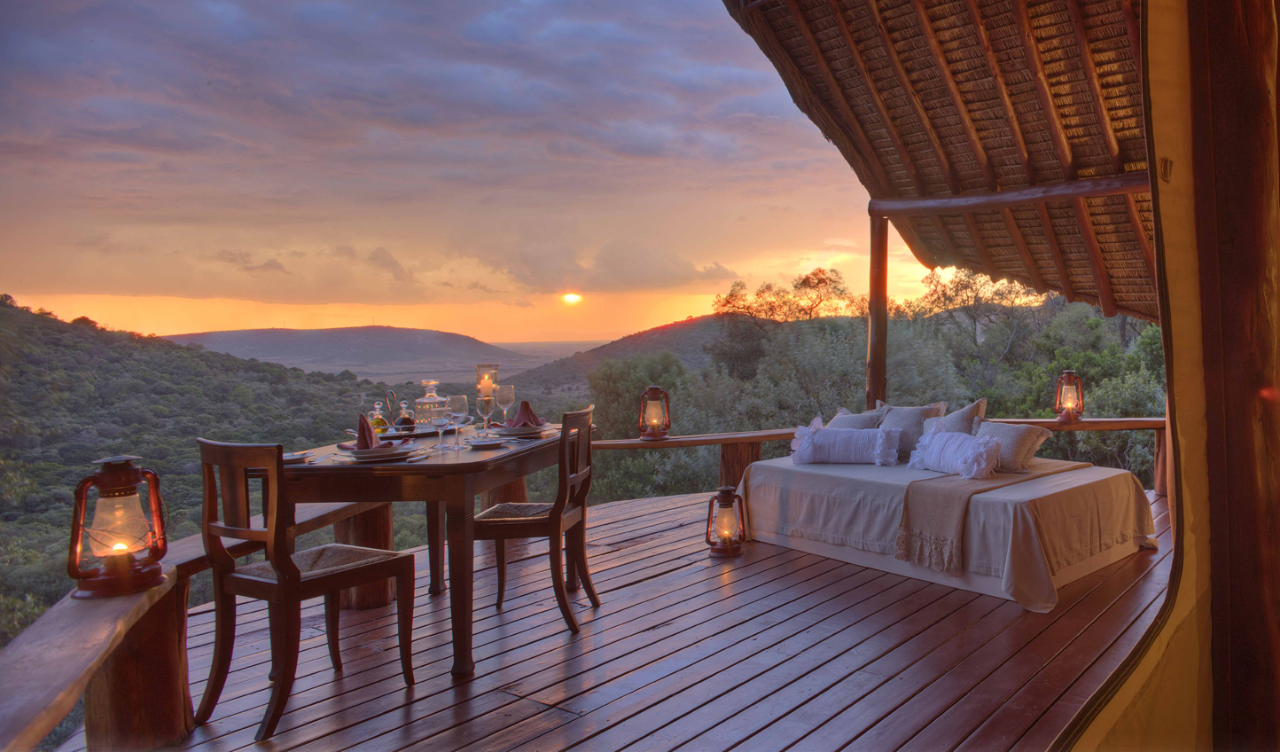 Gaze into the sunset from the Honeymoon Love Shack