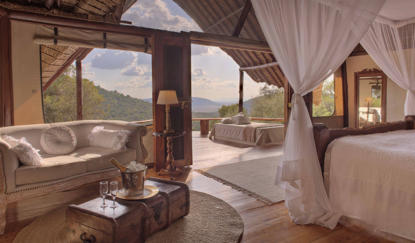 Gaze out over the view from the comfort of your bed
