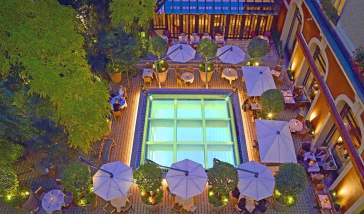 Relax by the terrace at the Royal Monceau Paris