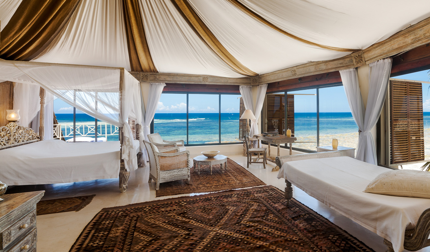 Wake up to views of clear skies and azure seas