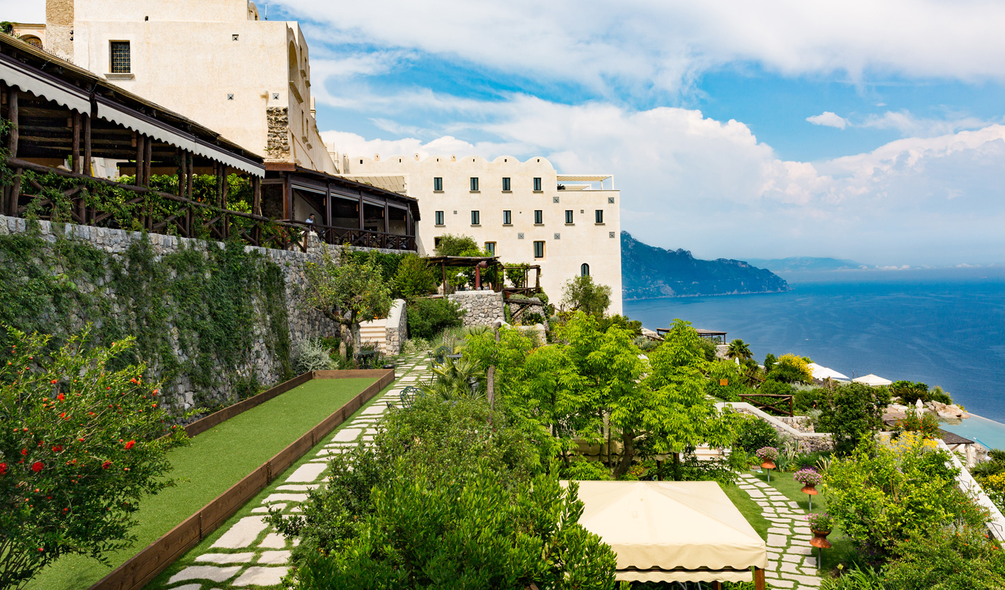 Stroll through the gardens or enjoy a game of boccia