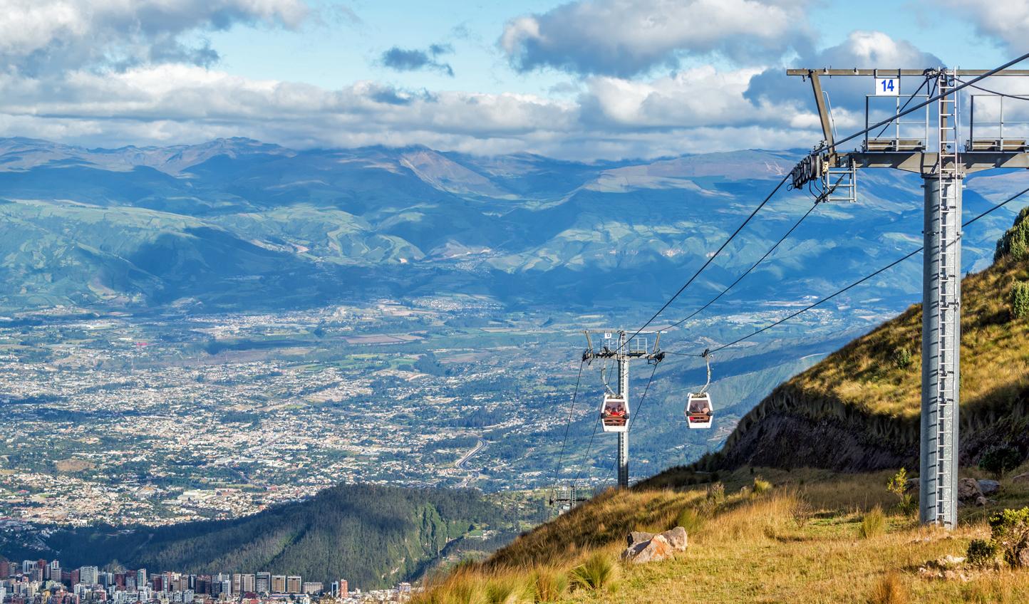 Enjoy the ride on the Teleférico Cable Car