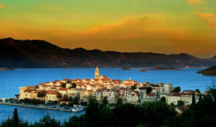 Korcula at sunset