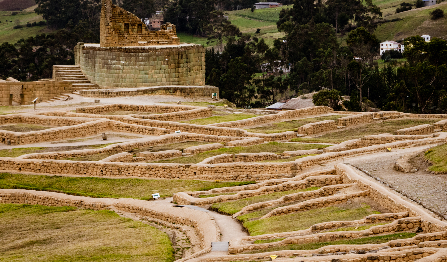 Intricate Inca ruins, just outside of Quito
