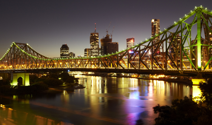 Night view of Brisbane City