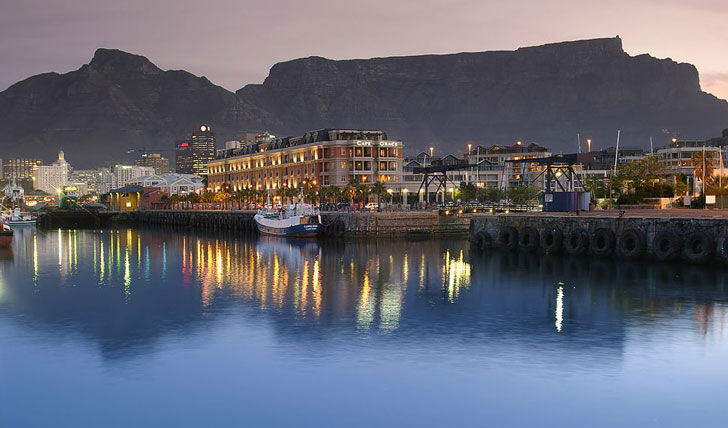 The luxury Cape Grace Hotel
