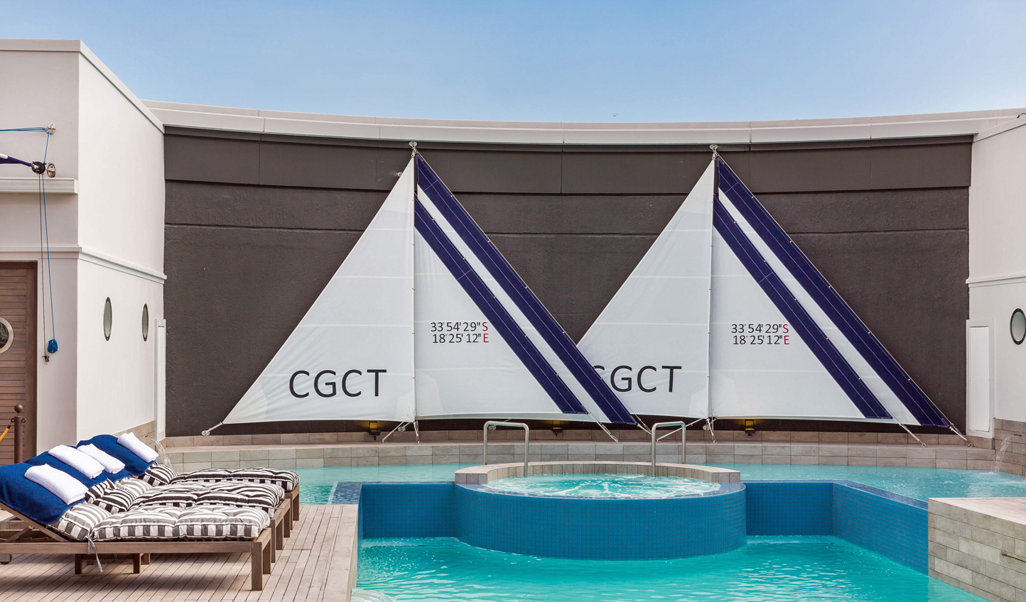 Relax by the rooftop pool of Cape Grace