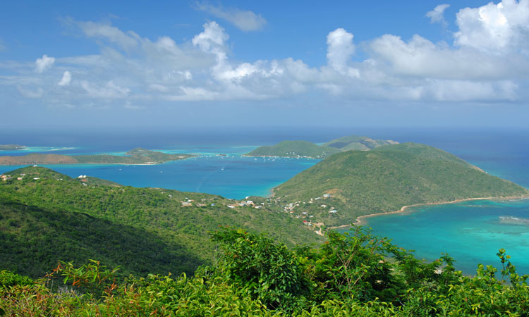 Views over Virgin Gorda island