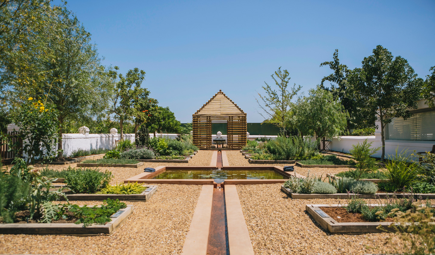 The pristine gardens at Babylonstoren
