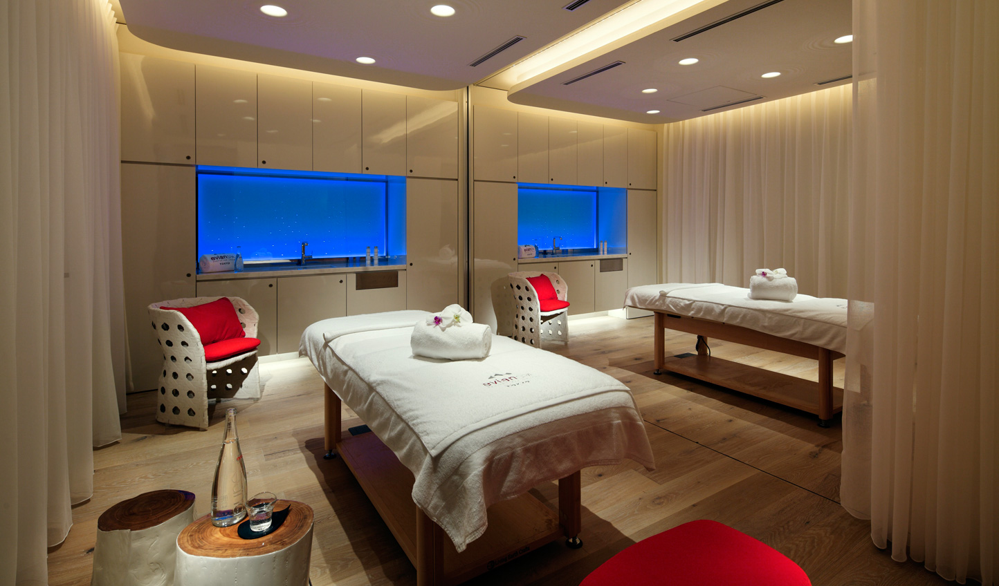 Head to the Evian Spa for a rejuvenating treatment
