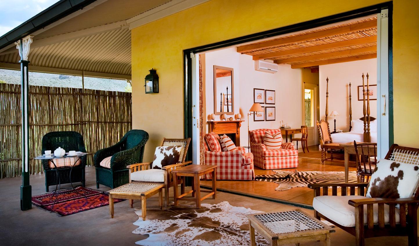 Eclectic furniture at Karoo Lodge