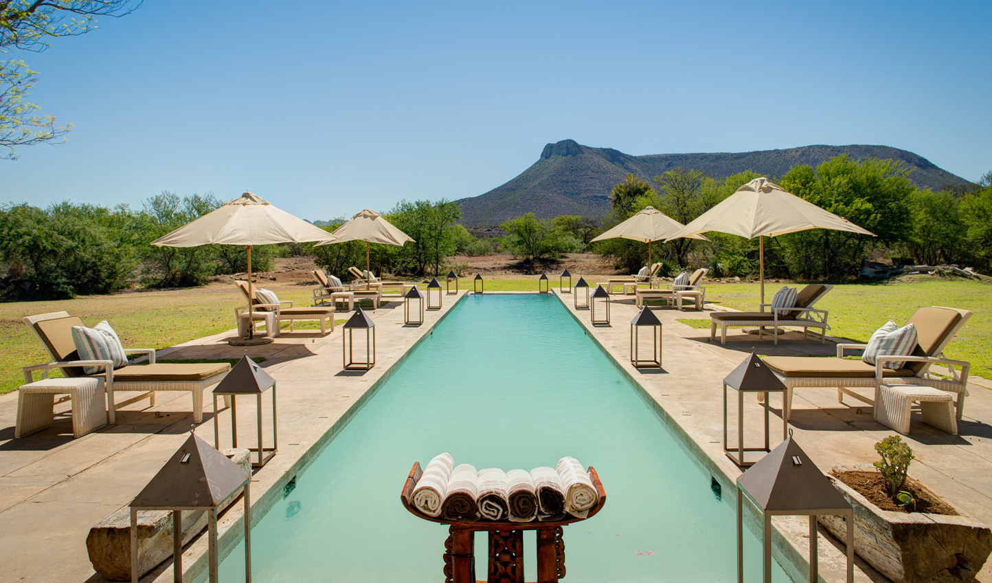 Enjoy the South African heat by the pool