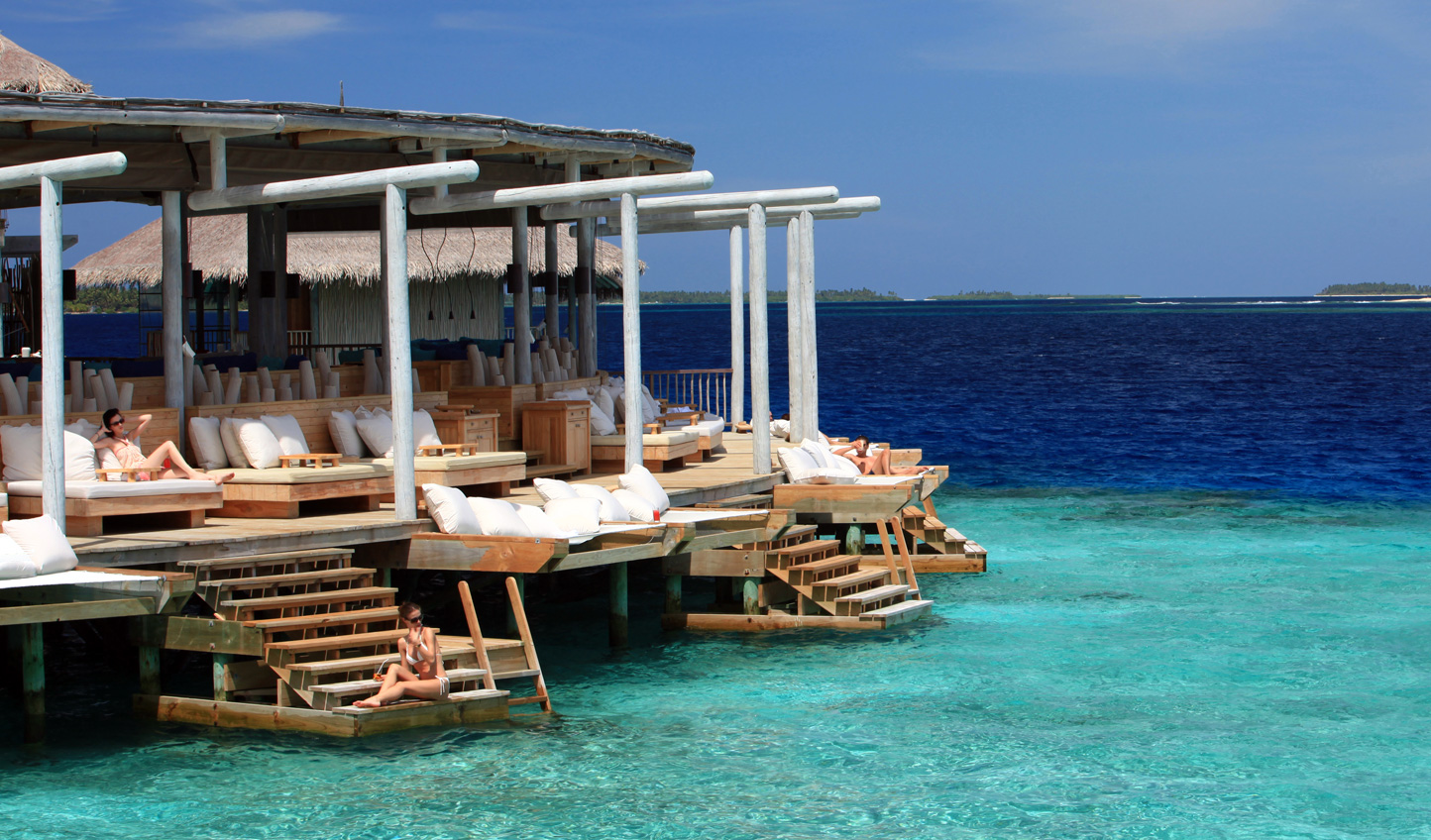 Relax at Chill Bar before diving in and exploring the house reef