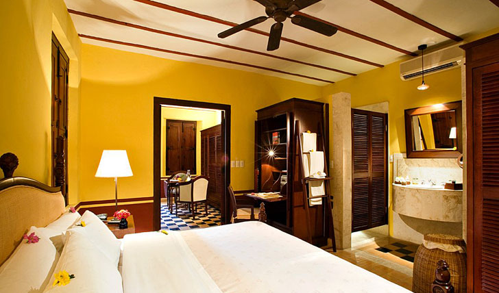Your room at Hacienda Puerta Campeche