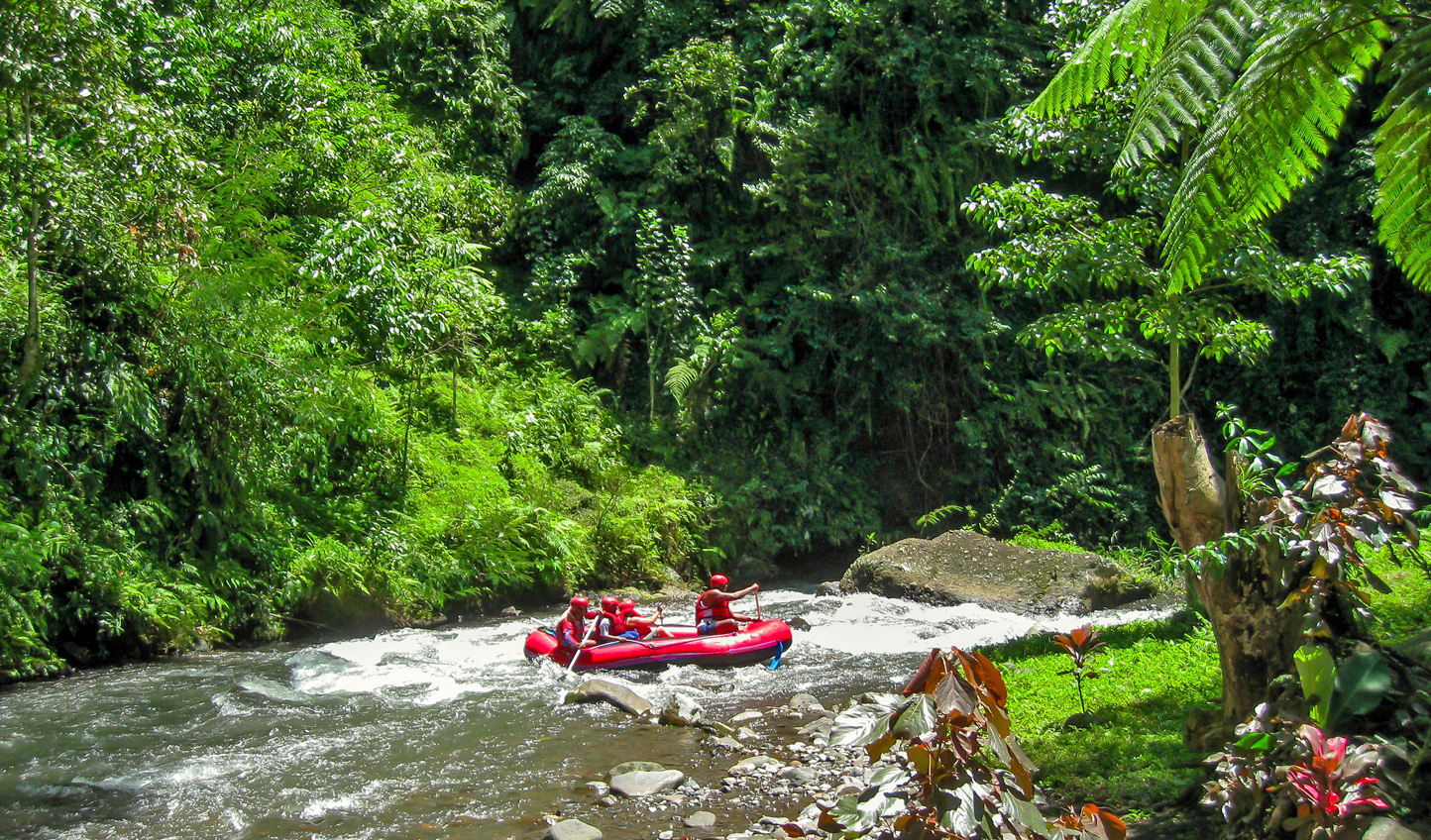 Raft through the white waters of Ubud
