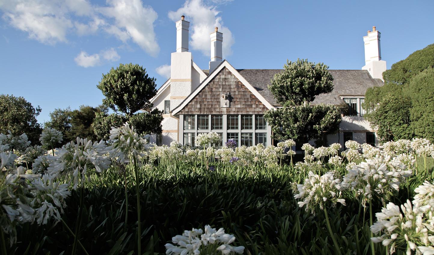 Wharekauhau Lodge is surrounded by nothing but 3,000 acres of farmland