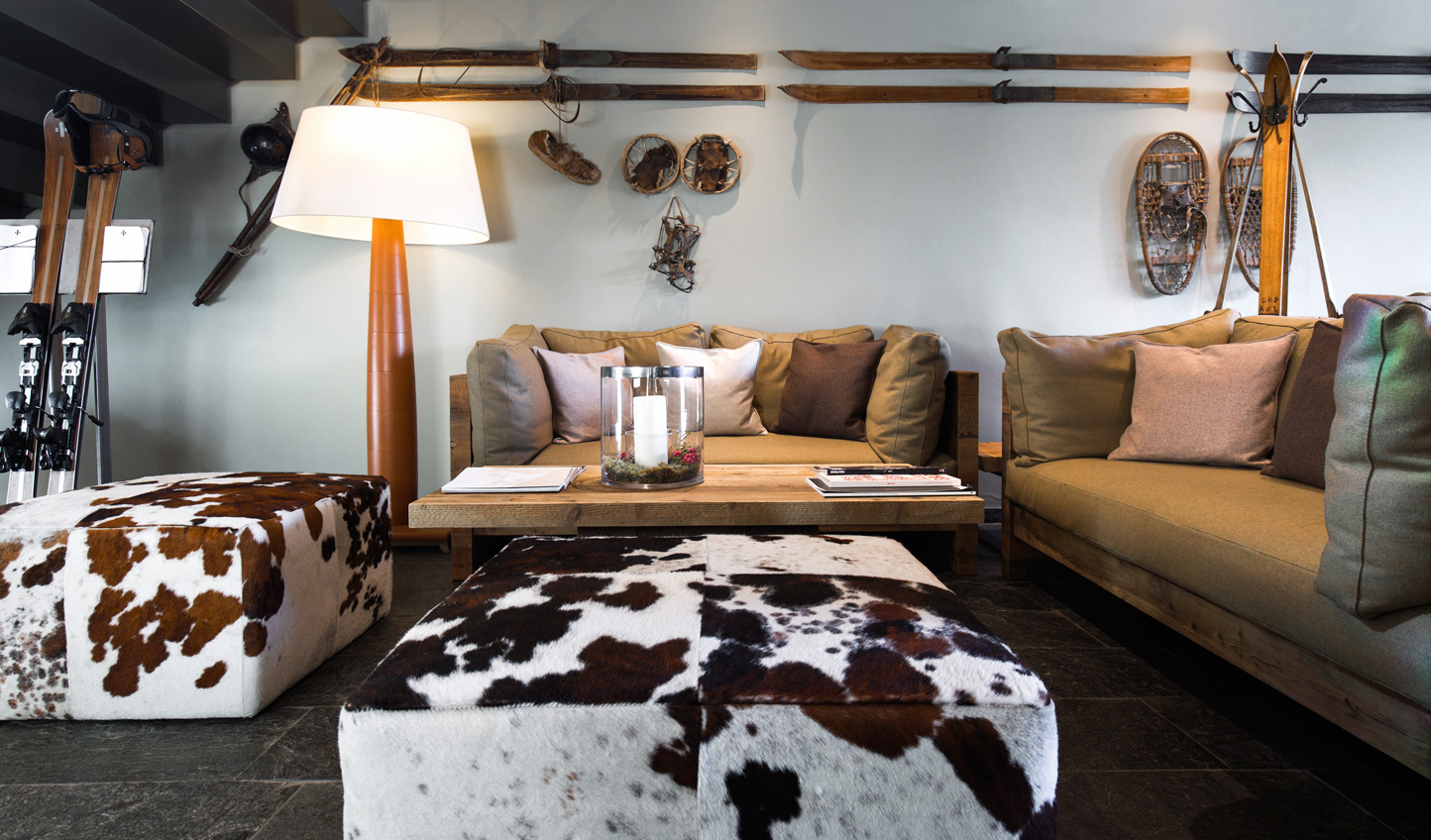 Vintage pieces meet modern design to give quintessential Alpine charm