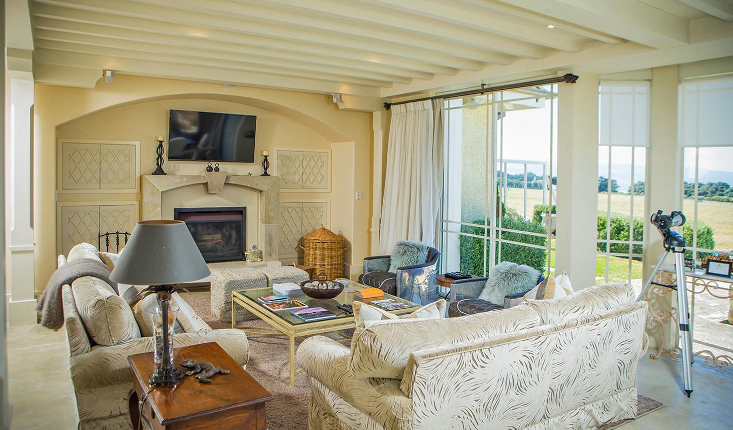 The warm cosy atmopshere throughout makes Wharekauhau Lodge feel like a home away from home