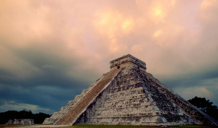 Chichen Itza at sunset