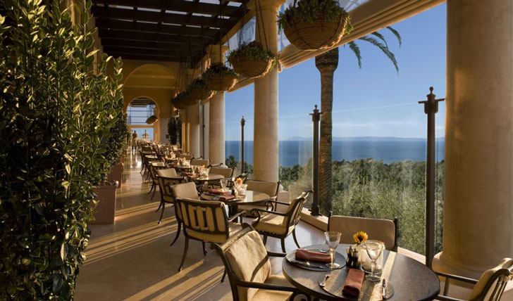 Ocean view dining, Pelican Hill