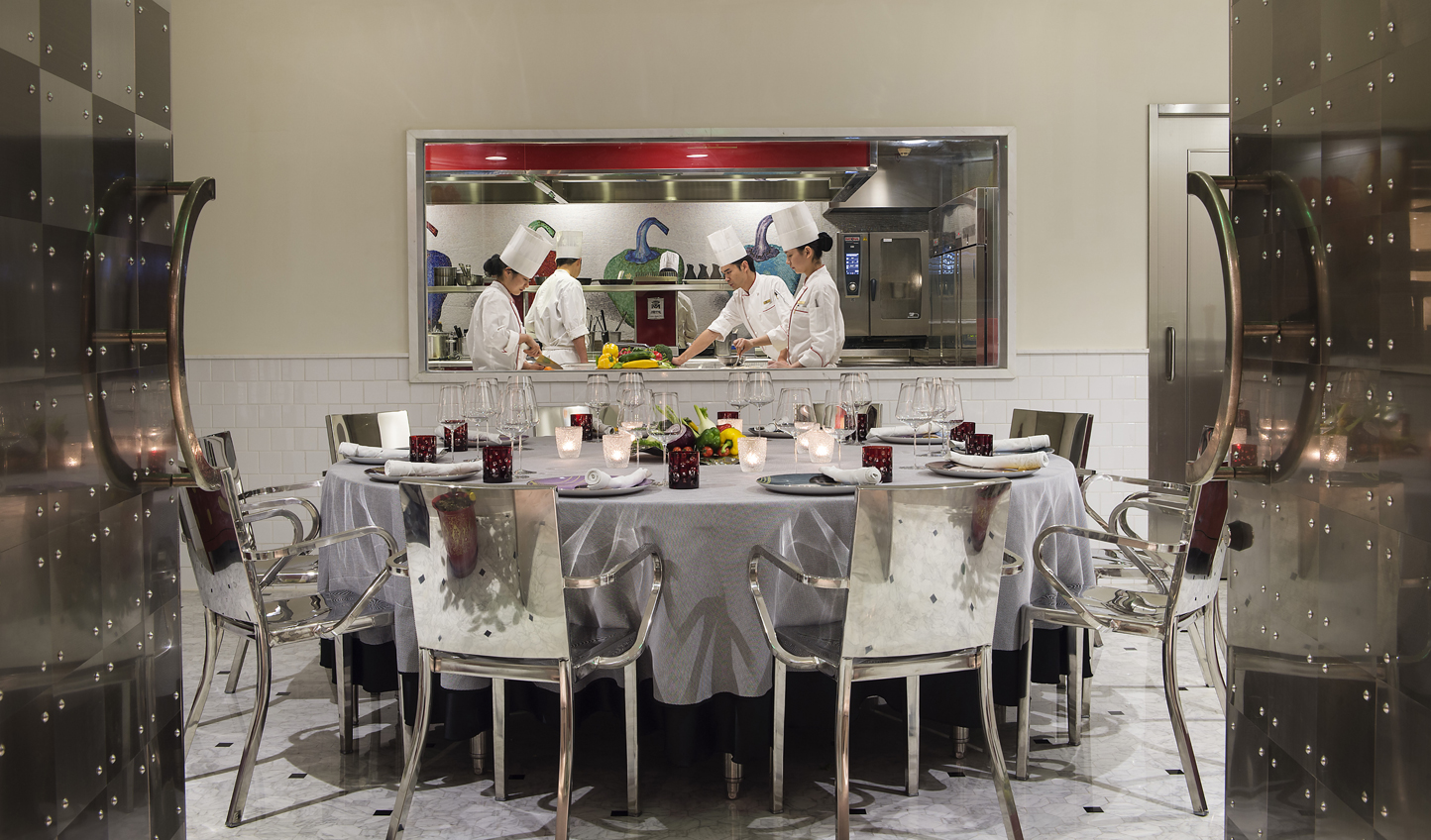 Watch the chefs in action from the Chef's Table