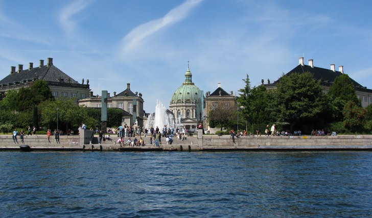 The grand buildings of Copenhagen