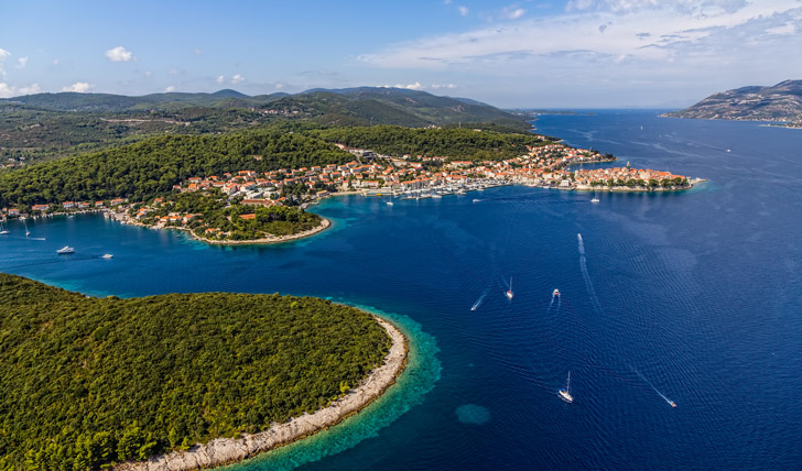 The crystal waters of Croatia's coastline