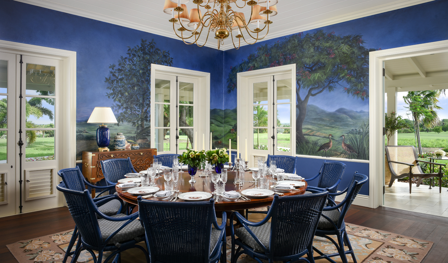Dine in colonial splendour at the Estate House