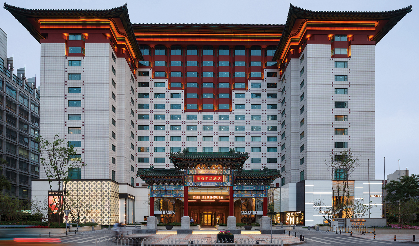 Traditional Chinese architecture at The Peninsula Beijing