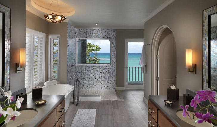 The luxurious cottage bathrooms