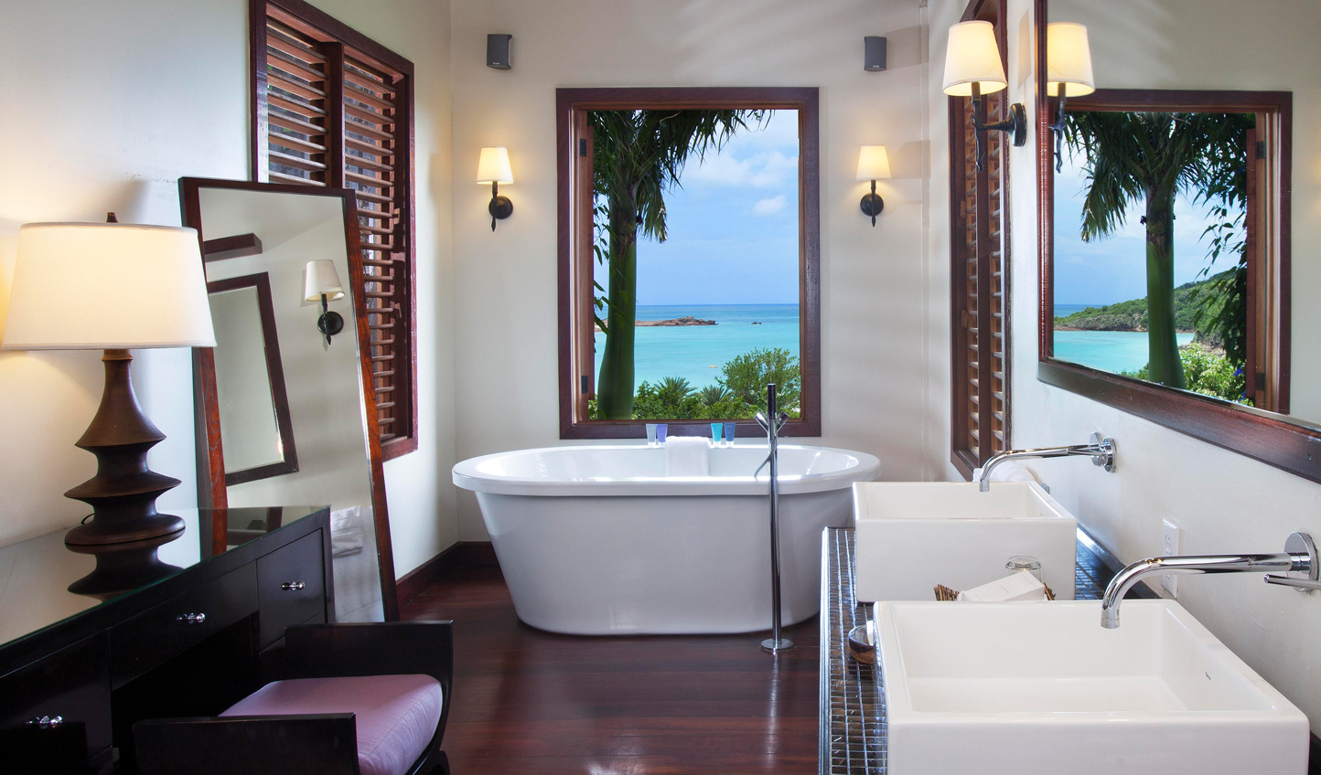 Soak away your stresses whilst soaking in the view