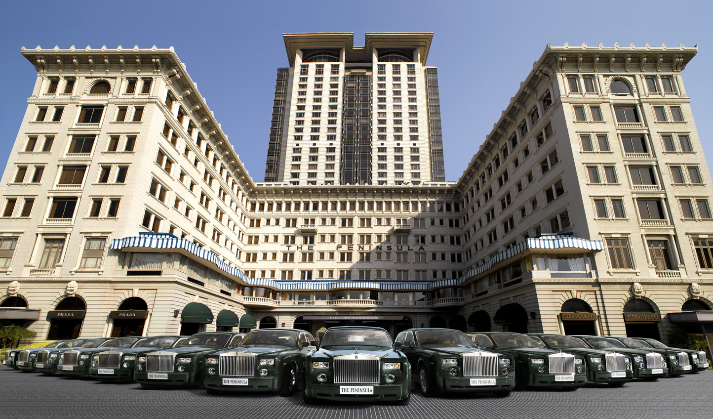 An icon of luxury in Hong Kong with a fleet of Rolls Royce cars on hand to whisk you anywhere you wish to go