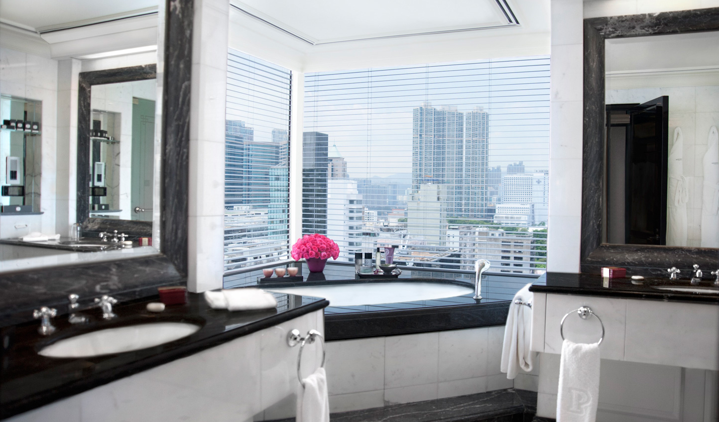 Sink into the bathtub and soak in the view