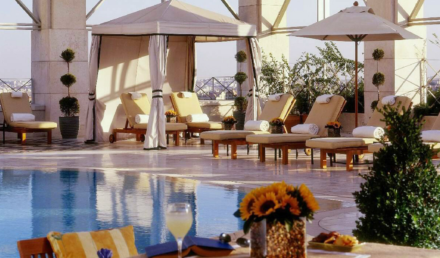 Let hours pass you by as you relax poolside on the skydeck in the heart of the capital