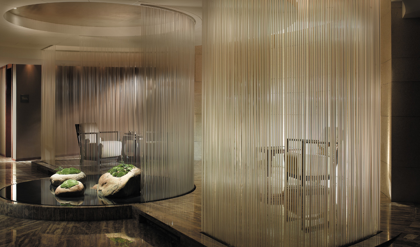 Sip tea in the stylish Tea Lounge after a massage