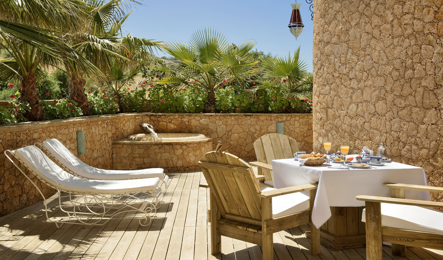 Relax out on your private terrace