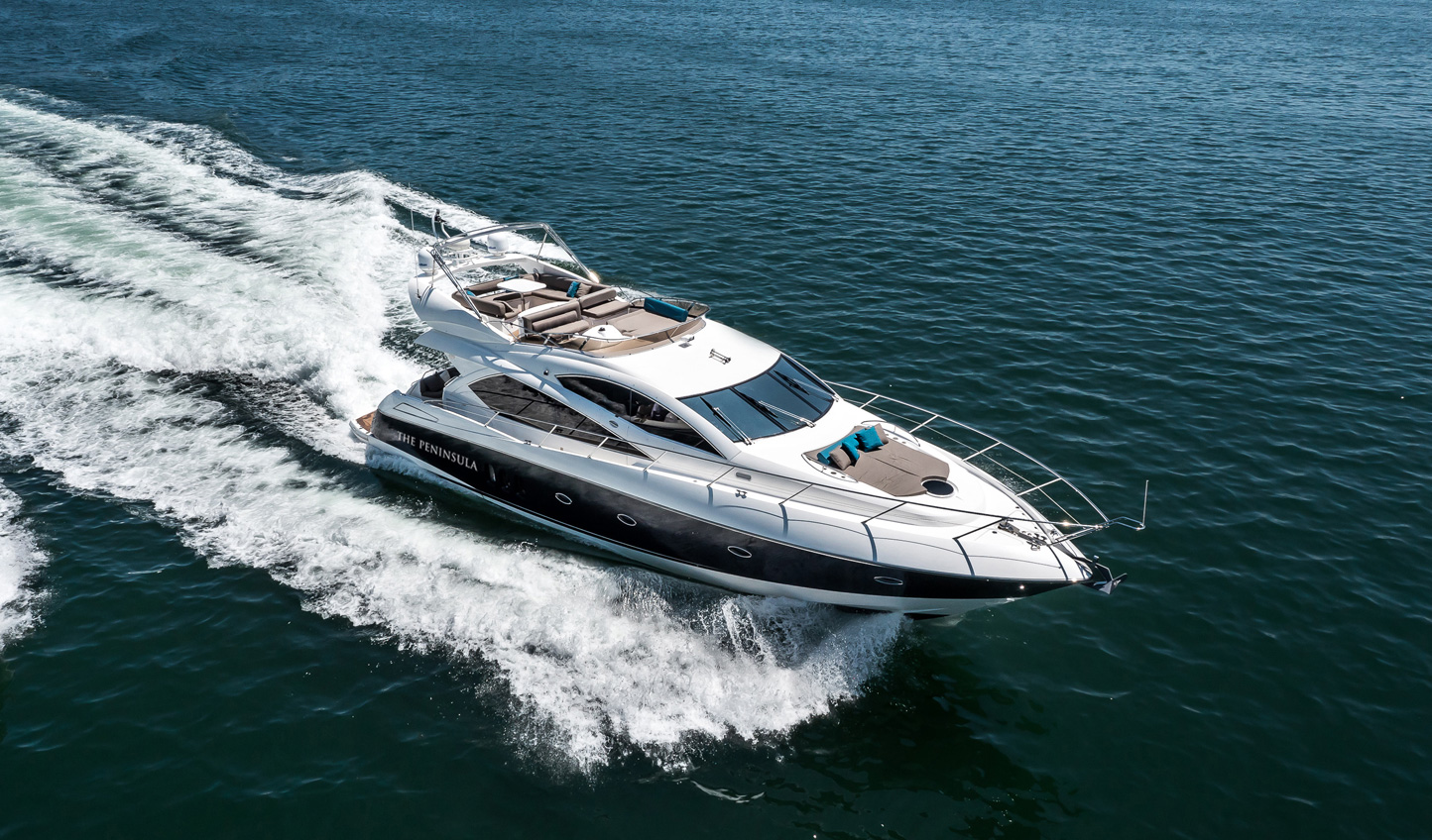 Explore the harbour on board The Peninsula's private yacht