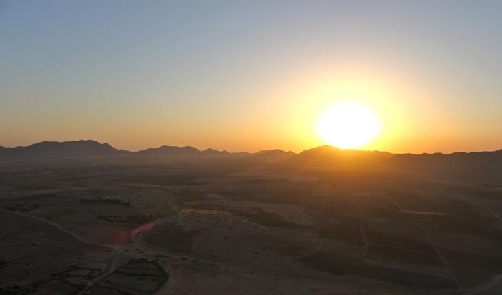 Sunrise in the Agafay Desert