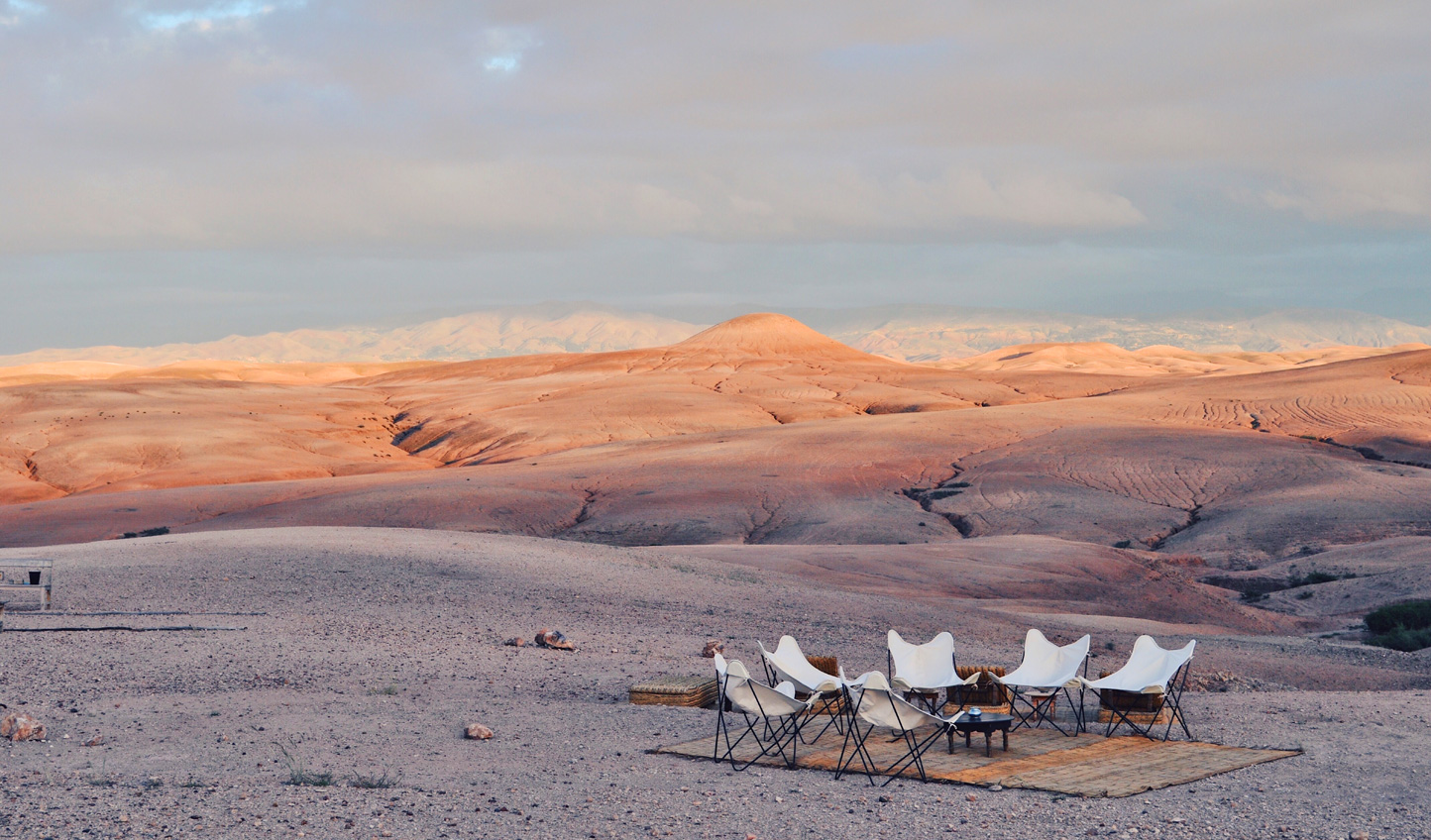 Head out to the solitude of the Agafay Desert
