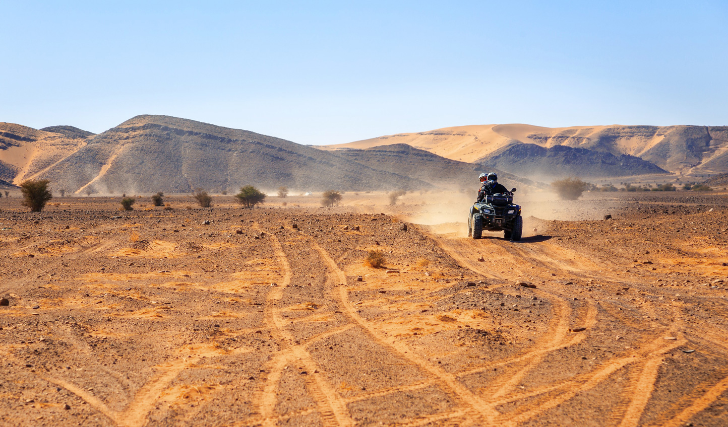 Ramp things up and explore the Agafay Desert by quad bike