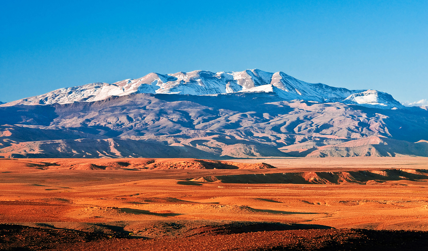 Leave the desert behind as you climb up into the Atlas Mountains