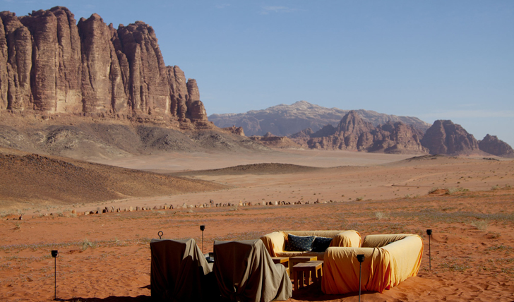 Bedouin camp experience in the Wadi Rum desert