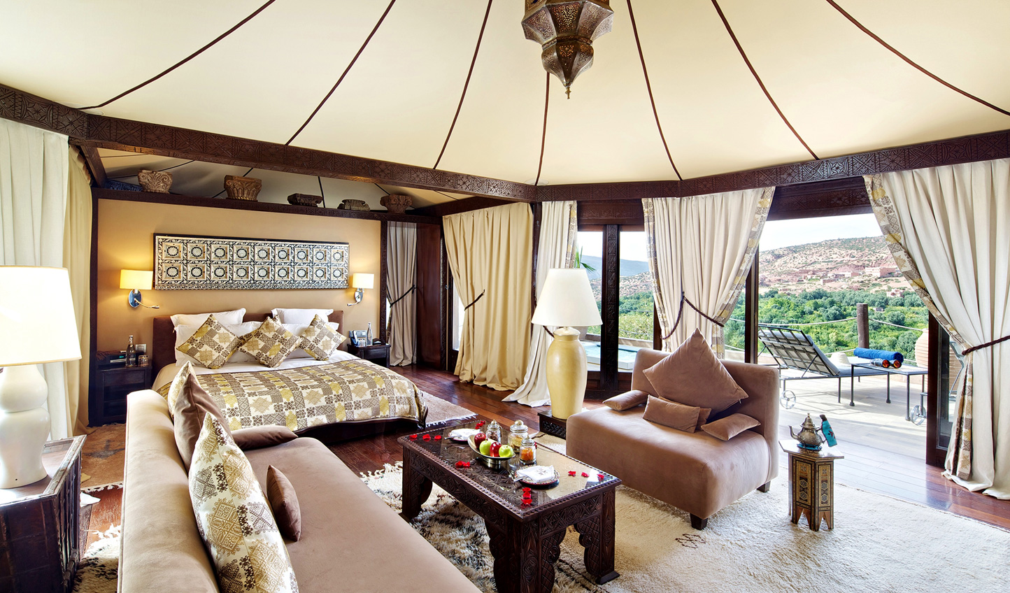 Blend Berber design with the utmost luxury at Kasbah Tamadot