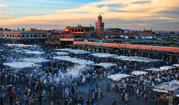Bustling Marrakech