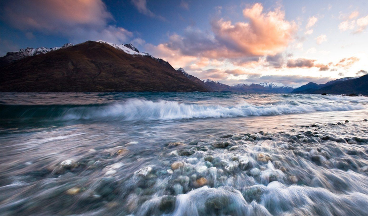 Sunset from Queenstown; your backdrop you this remarkable adventure