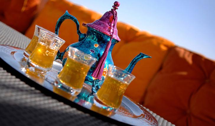 enjoy a scented moroccan tea