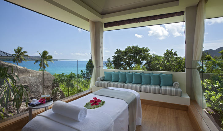 The Raffles Seychelles open air spa